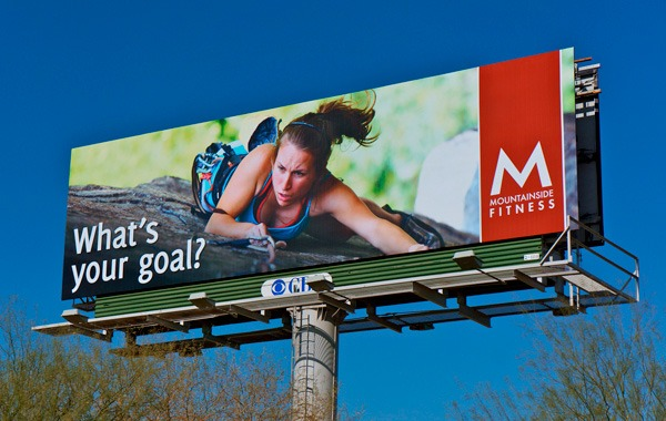 Mountainside Fitness Billboard in Phoenix