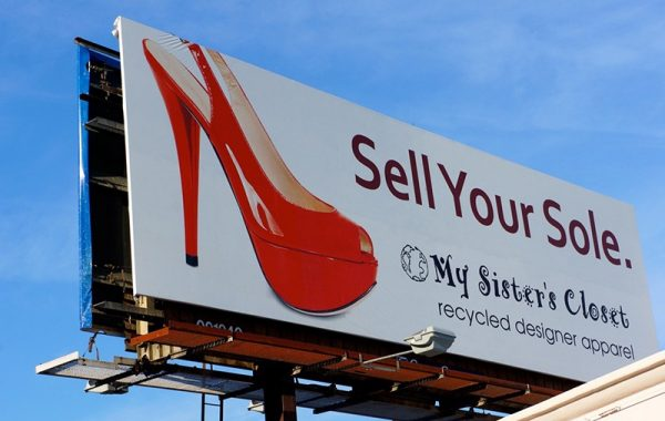 My Sister's Closet Sell Your Sole Billboard in Scottsdale AZ