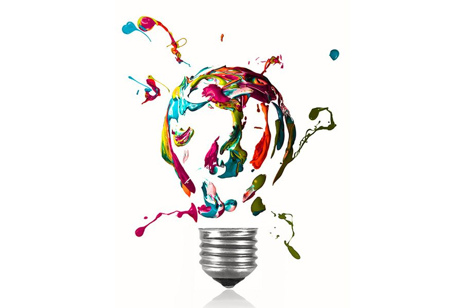 Color Illustrated Idea Lightbulb