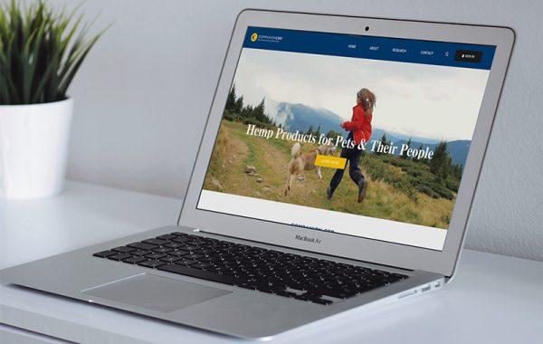 Companion CBD Website on Screen