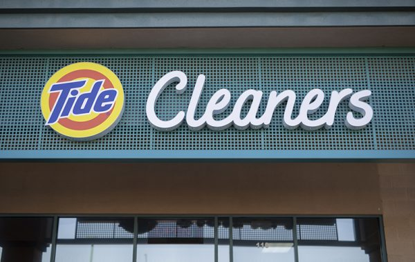 Tide Dry Cleaners Signage